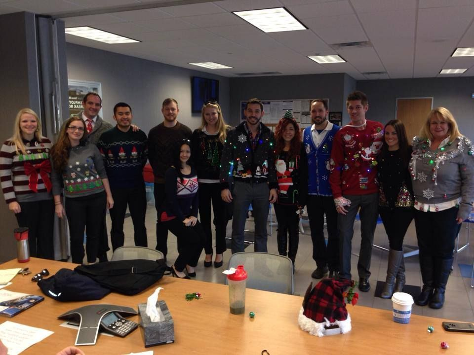 Christmas sweater party time at First Texas Honda.