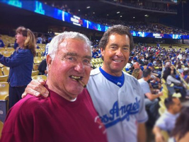Ed and Ty Bobit at an L.A. Dodgers game.