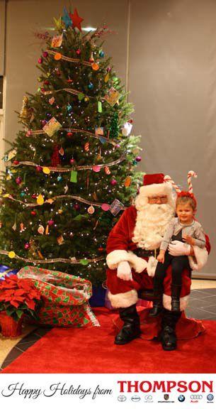 Children visit Audi Warrington to see Santa.