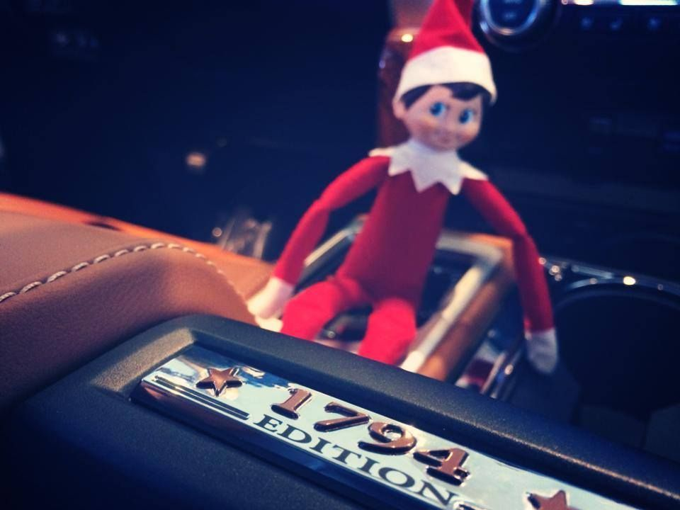 Lithia Toyota of Abilene's little elf is popping up all around the lot.