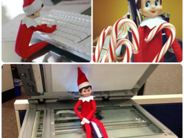 The Elf on the Shelf stopped by North Georgia Toyota.