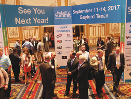 Industry Summit 2016's exhibit hall featured more than 30 exhibitors, six networking events,...