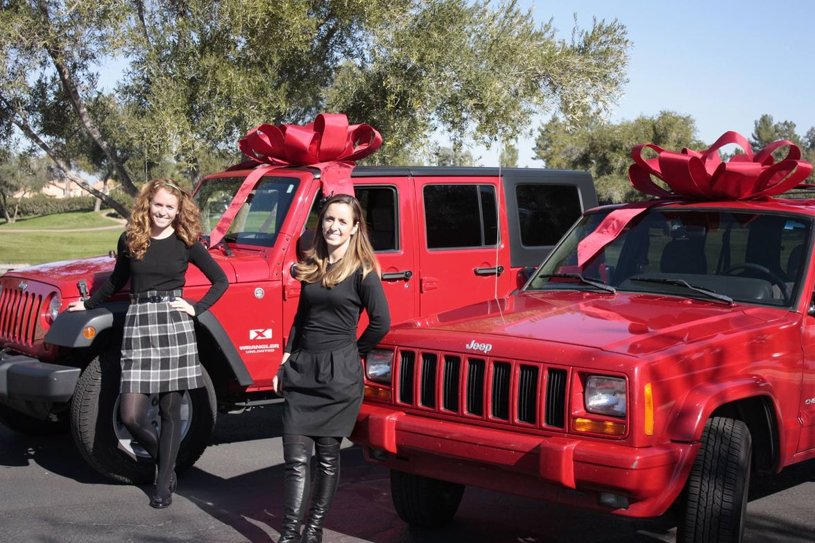 These sisters got the perfect matching gifts from Tempe Chrysler Dodge Jeep Ram.