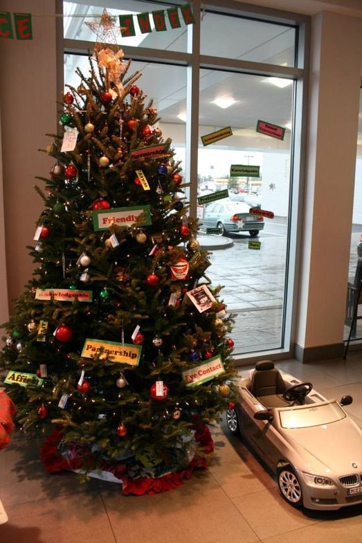 Thompson's tree decorating contest.