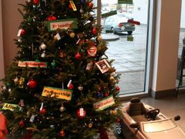 Thompson's tree decorating contest.