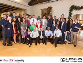 Lexus Santa Monica's team is ready for some holiday cheer.