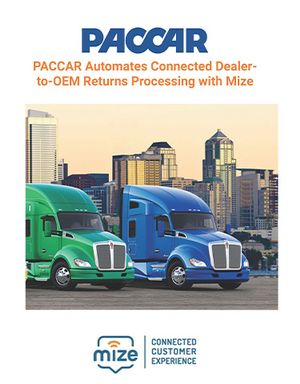 Case Study: PACCAR Automates Connected Dealer-to-OEM Returns Processing with Mize